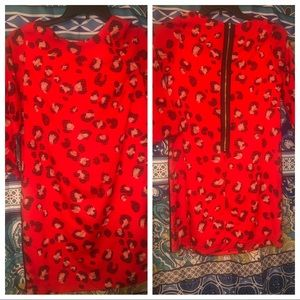 Beautiful red leopard dress by Limited